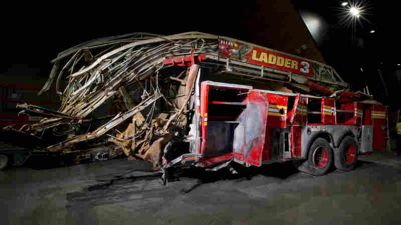 The New York City Fire Department's Ladder Company 3 Truck was assigned to aid in the evacuation of the north tower on Sept. 11. All 11 of its responding members were killed when the north tower collapsed.
