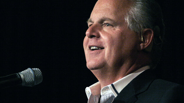 Rush Limbaugh, pictured in 2013, was honored at the Children's Choice Book Awards for his bestselling book Rush Revere and the Brave Pilgrims: Time-Travel Adventures With Exceptional Americans.