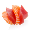 Lazy and luxurious: Raw salmon and tuna have soft, creamy textures because the fishes' muscles don't work as hard as those in land animals.