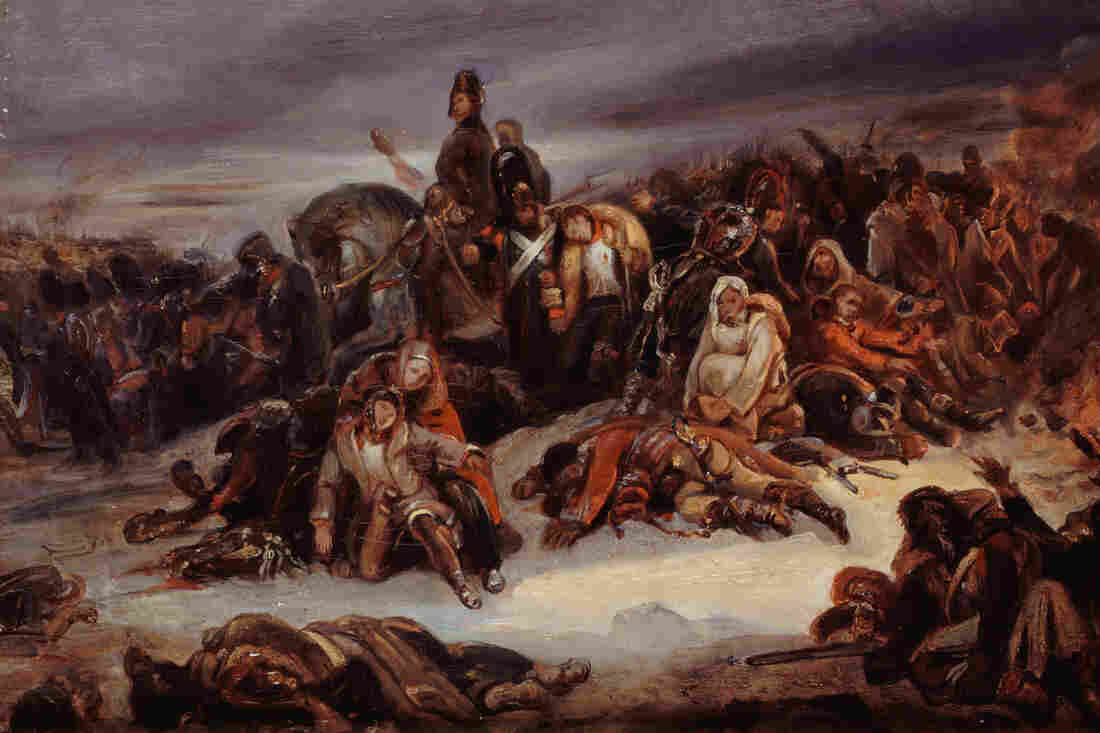 Death and despair reign in Ary Scheffer's painting The Retreat From Russia.
