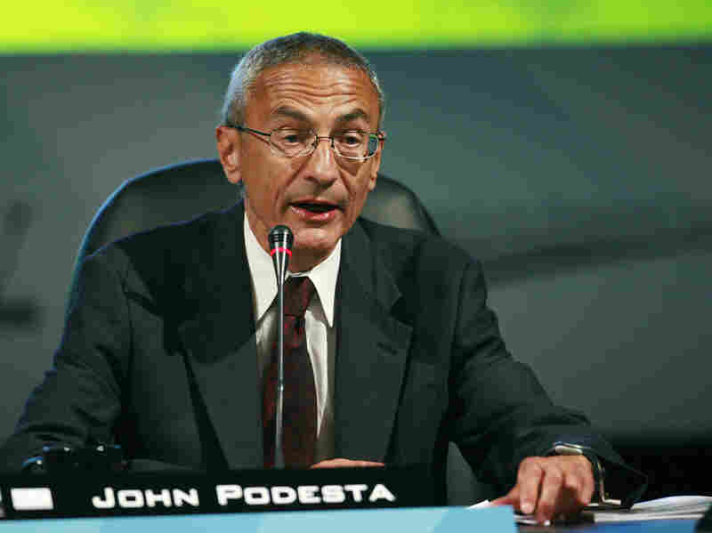 John Podesta speaks at the National Clean Energy Summit 2.0 in Las Vegas in August 2009.