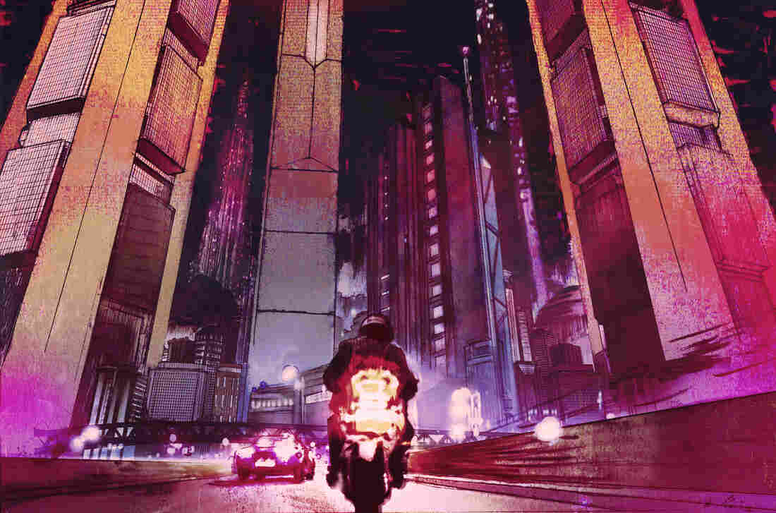 Ariel Zucker-Brull's artwork sets the dystopian tone throughout Perturbator's Dangerous Days.
