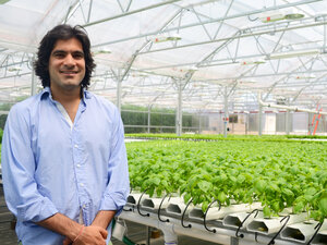 Gotham Greens CEO Viraj Puri says the company's rooftop produce is competitive because it's extra-fresh.