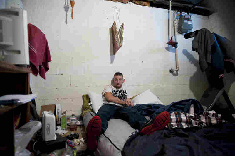 Stephen Papa, who was homeless and without a job after returning home from the Iraq War, has been living with friends.