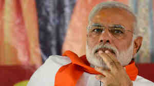 Narendra Modi, shown here at an April 5 campaign rally, was ostracized by the United States for more than a decade. As it became increasingly clear in recent months that he was likely to become India's next leader, the U.S. and European countries began reaching out to him.