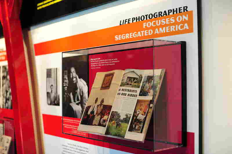 On display in the exhibit, Gordon Parks' powerful photo essay on racial segregation in the United States was published in this Sept. 24, 1956, issue of Life magazine