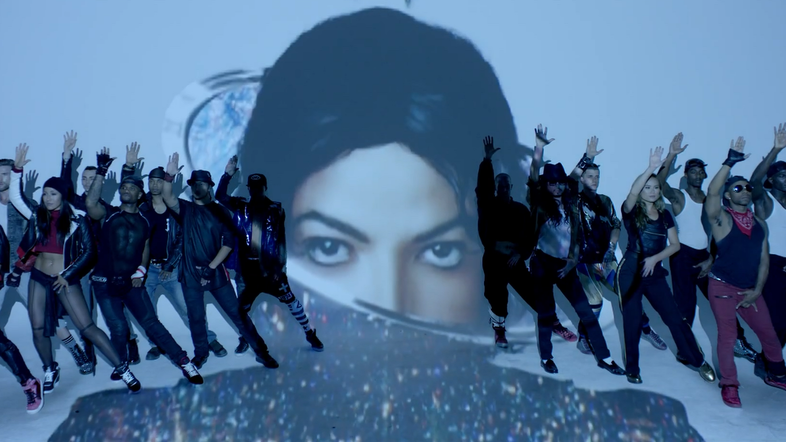 "Dancers pose reverently in the video for ""Love Never Felt So Good,"" the lead single from Michael Jackson's posthumous Xscape album."