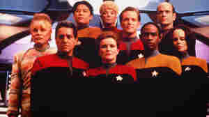 The crew of Star Trek: Voyager