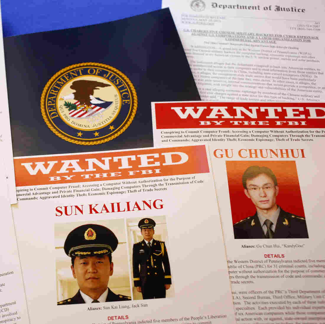 U.S. Files Criminal Charges Against Chinese Officials Over Cyberspying