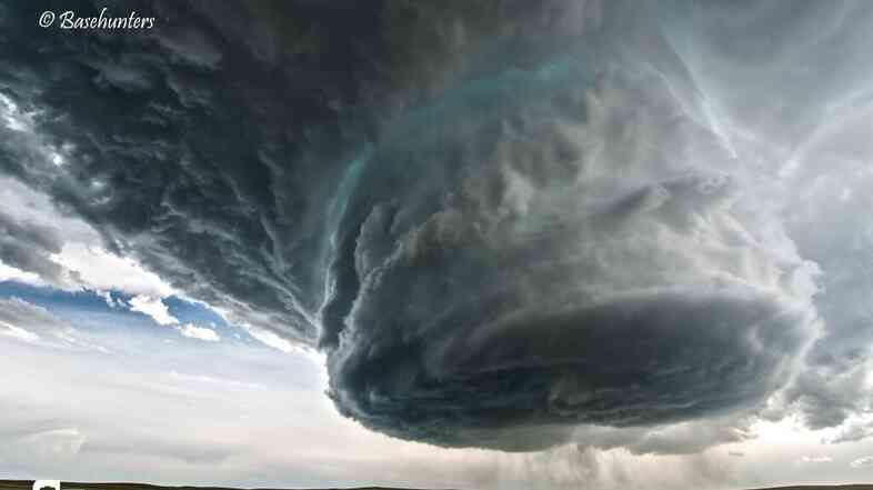 A supercell storm in Clareton, Wyo.