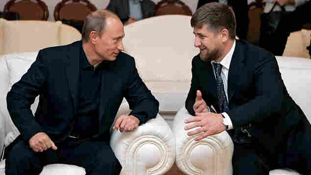 Presidents Vladimir Putin and Ramzan Kadyrov.