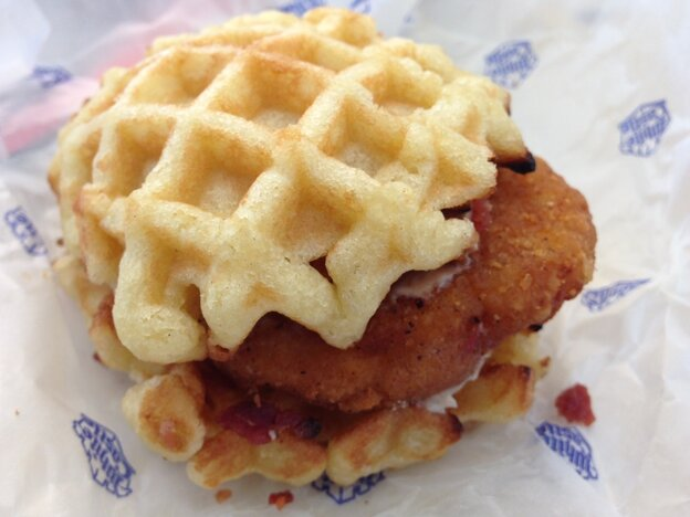 The White Castle Waffle Sandwich pales in comparison with the Carl Kasell Waffle Sandwich.