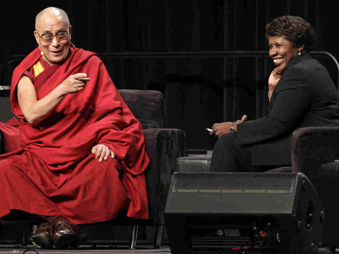 The Dalai Lama answers questions from moderator Gwen Ifill in 2010. Ifill's speech this year is one of Cristina Negrut's most anticipated. The Dalai Lama's speech in 2013 was one of our faves.