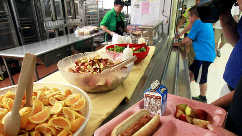 Some schools say they're having a tough time implementing new nutrition rules requiring more whole grains, more veggies and less fat.