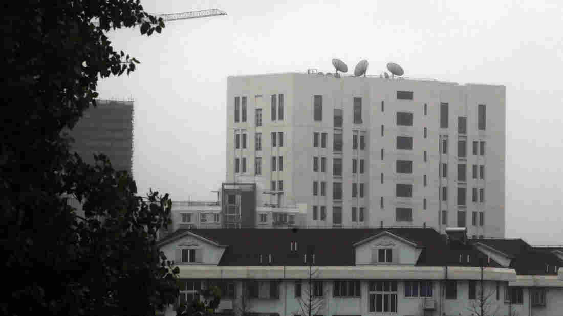 The building housing China's Unit 61398, a division of the army linked to hacking operations, is seen in Shanghai last year. The U.S. says the group worked to steal trade secrets from American companies.