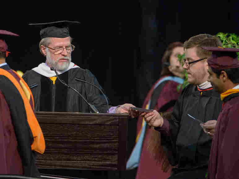 Peter Lafford has been reading students' names at Arizona State University's graduations for more than a decade. He sometimes spends weeks practicing name pronunciations.