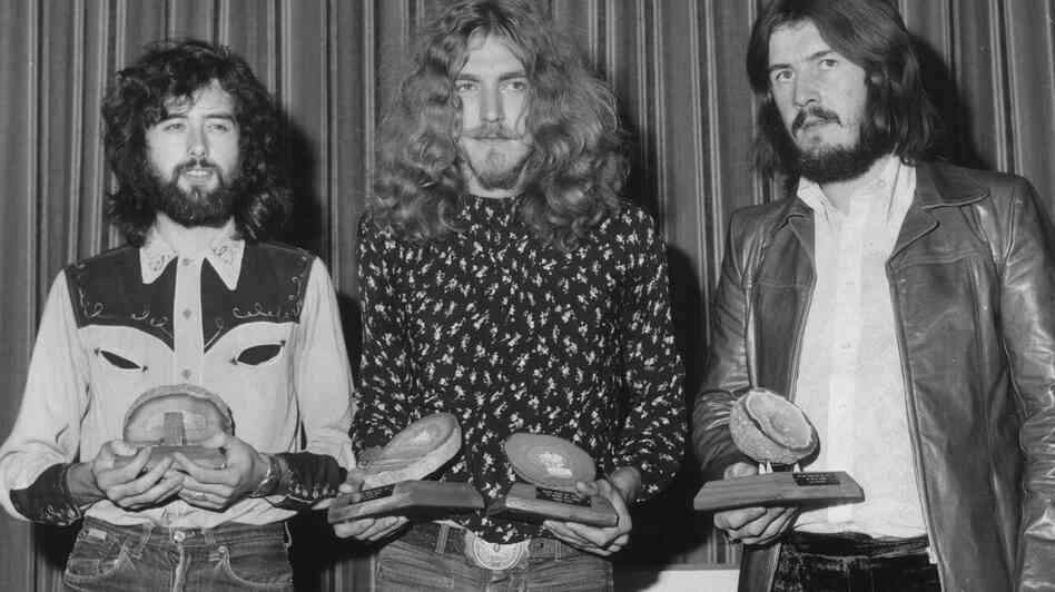 """Jimmy Page, Robert Plant, and John Bonham of Led Zeppelin, in 1970. A new lawsuit says the group borrowed from another band's work without crediting it, for the huge hit """"Stairway to Heaven."""""""