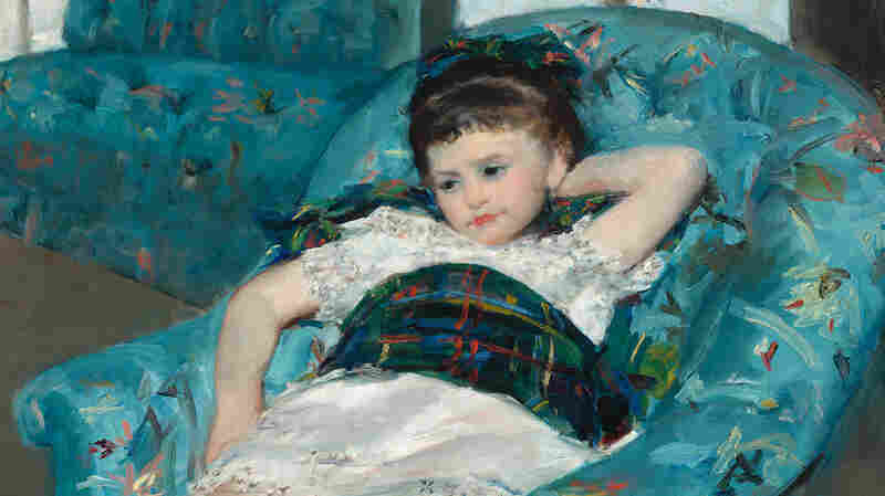 In a letter, Mary Cassatt describes working on Little Girl in a Blue Armchair (1878) with Edward Degas. An X-ray of the painting reveals brush strokes unlike Cassatt's regular strokes.