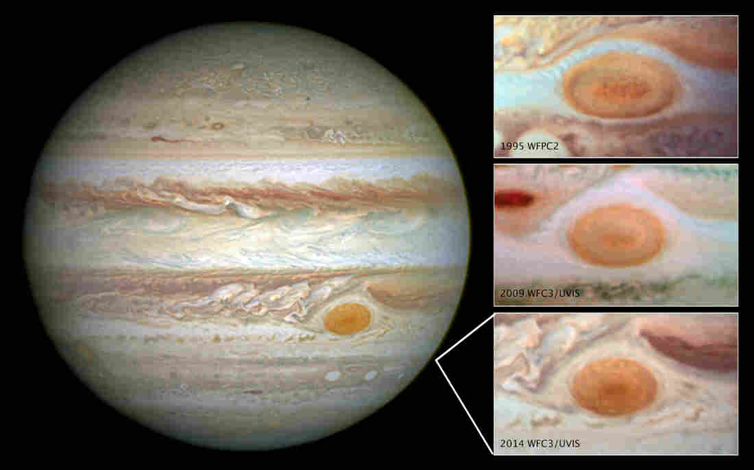 Jupiter's Great Red Spot is getting smaller.