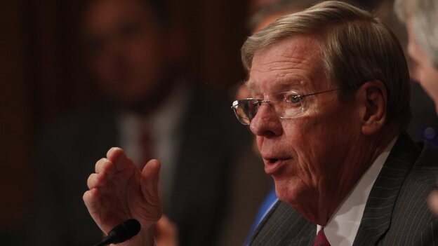 Sen. Johnny Isakson, R-Ga., speaks during a May 2013 Senate Finance Committee hearing.