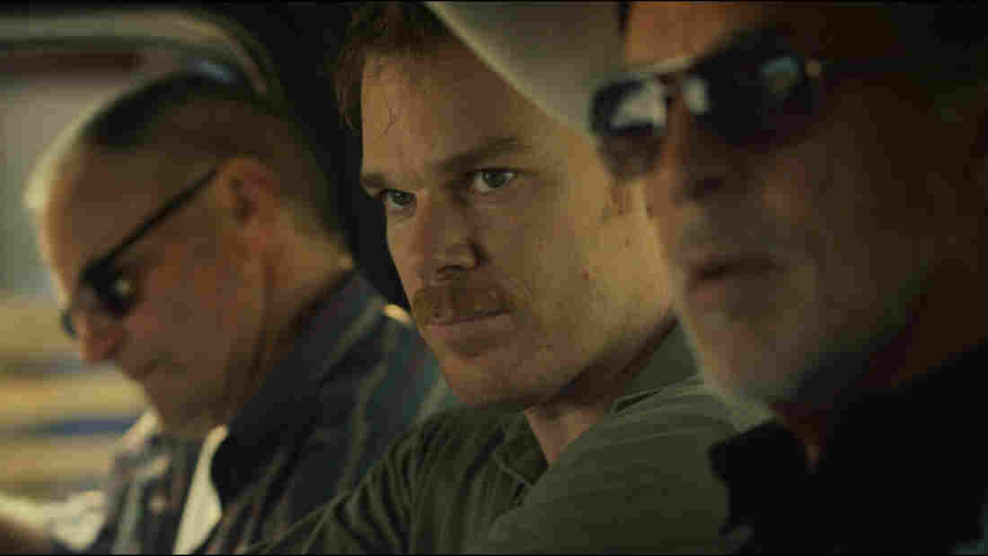 Sam Shepard (Russell), Michael C. Hall (Richard Dane), and Don Johnson (Jim Bob) find themselves unexpectedly working together in Cold In July.