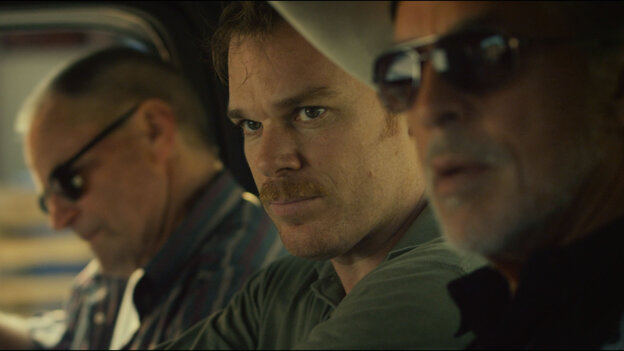 Sam Shepard (Russell), Michael C. Hall (Richard Dane), and Don Johnson (Jim Bob) find themselves unexpectedly working together i