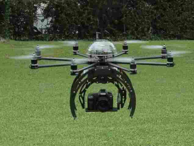 A drone made by a hobbyist.