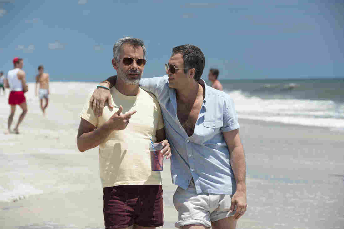 In the HBO adaptation of Larry Kramer's 1985 play, The Normal Heart, Mark Ruffalo (right) plays Ned Weeks, who begins to seek answers after he observes a mysterious disease claiming lives in his gay community. Joe Mantello plays a member of the AIDS service organization, Gay Men's Health Crisis.
