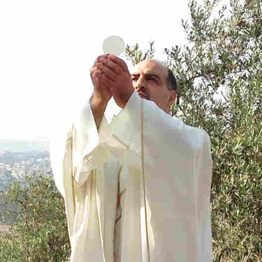 Father Ibrahim Shomali, a Palestinian priest, holds prayer vigils every Friday in the Cremisan Valley near Bethlehem. Israel is planning to build a wall, citing security needs, on agricultural land here owned by a local monastery. Shomali has asked Pope Francis to intervene.