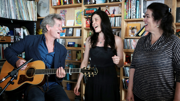 Rodney Crowell performs at a Tiny Desk in May 2014. (Meredith Rizzo/NPR)