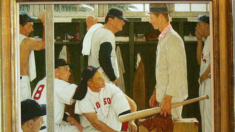 Norman Rockwell Painting The Rookie Sells For 22 5