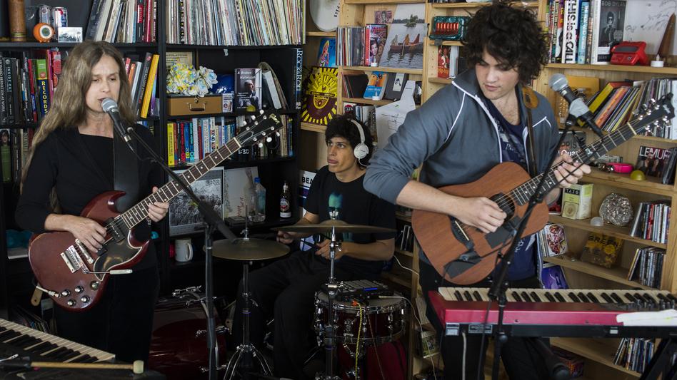 Juana Molina performs at a Tiny Desk Concert in April 2014. (NPR)