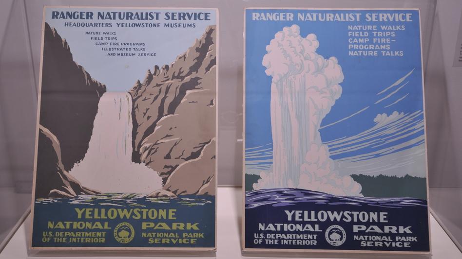 Yellowstone serigraphs, circa 1939. (Courtesy of Doug Leen and the Interior Museum)