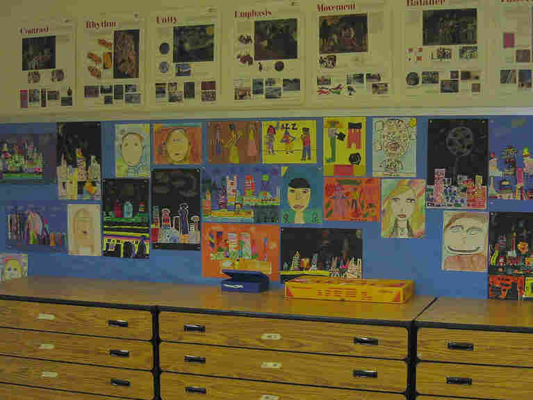 Does colorful classroom art necessarily mean great teaching?