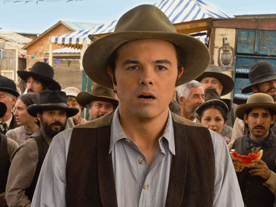 Seth MacFarlane, who wrote and directed A Million Ways to Die in the West, stars as Albert, a cowardly sheep farmer who inadvertently falls in love with the wife (Charlize Theron) of a dangerous outlaw (Liam Neeson).