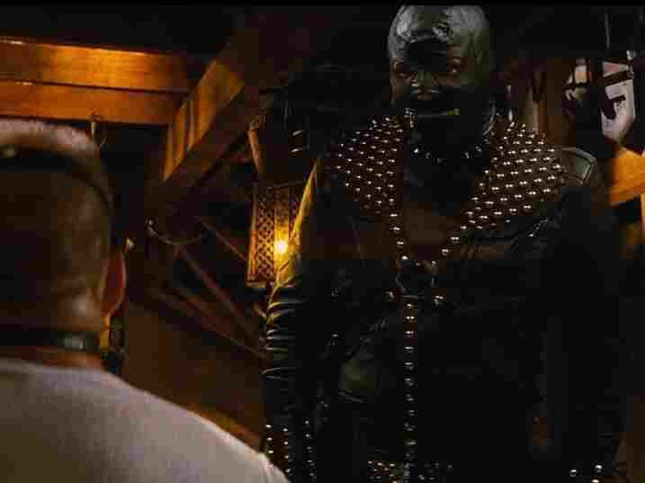 The Gimp character in Pulp Fiction, clad head-to-toe in studded black leather, has no lines in the film but still manages to be memorable.