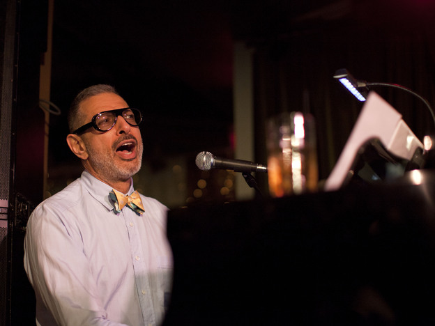 Jeff Goldblum performs with his band The Mildred Snitzer Orchestra on Wednesdays at Rockwell club in L.A.