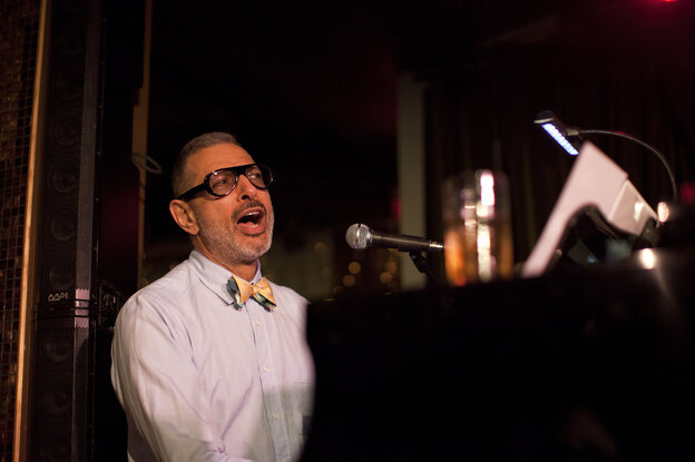 Jeff Goldblum performs with his band The Mildred Snitzer Orchestra on Wednesdays at R
