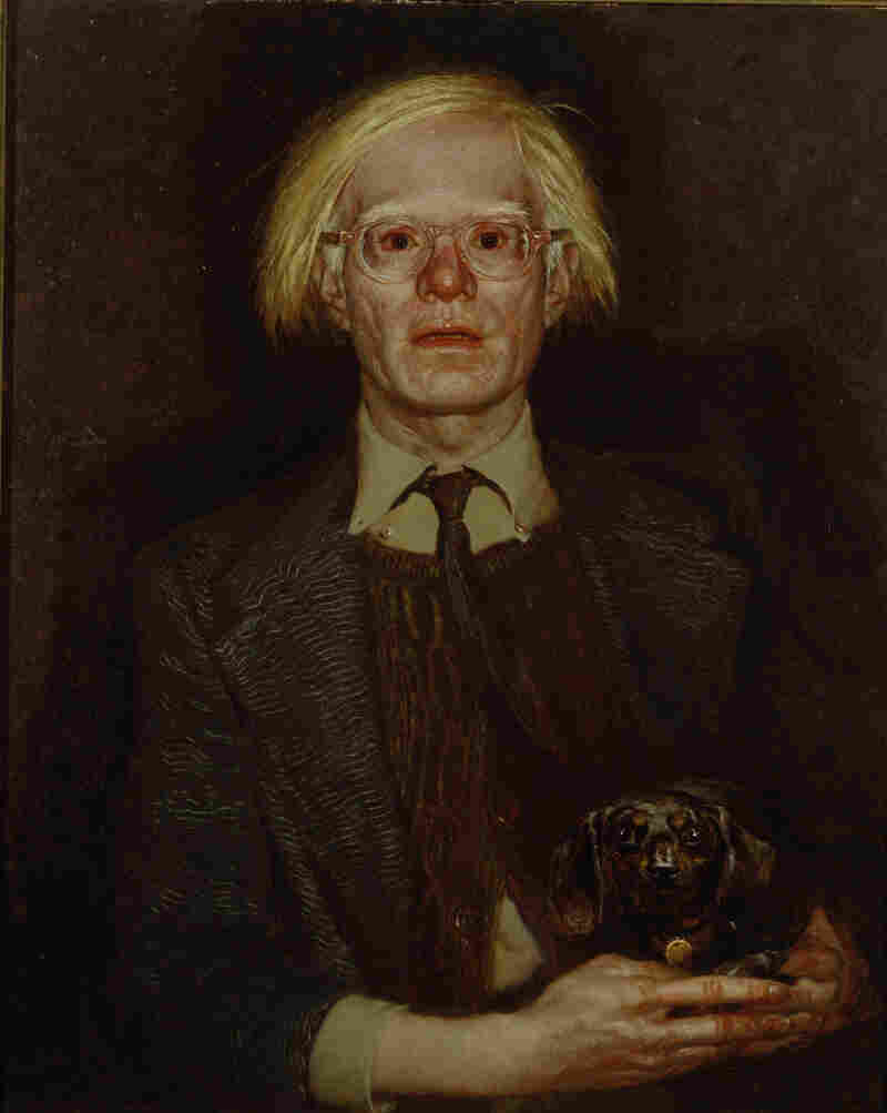 "Jamie Wyeth painted Andy Warhol in ""excruciating detail"" says curator Wendy Wick Reaves. ""This is really one of the scariest portraits I've ever seen."""