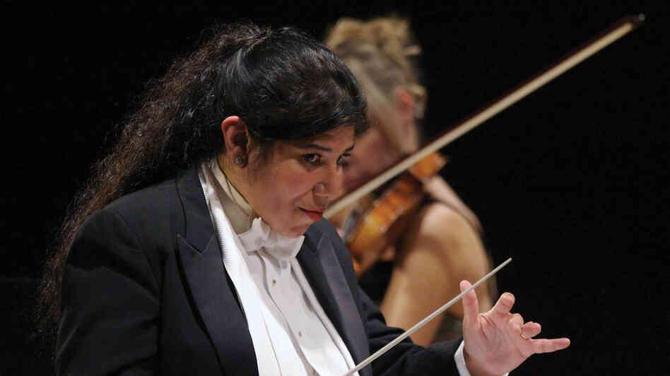 Conductor Sonia Marie De Leon De Vega celebrates 20 years of the community-focused Santa Cecilia Orchestra in 2014.
