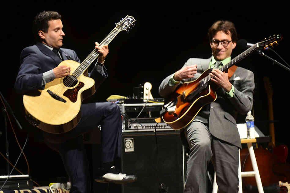 Frank Vignola and Vinny Raniolo.