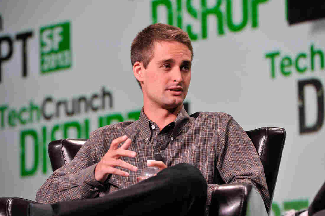 "Evan Spiegel of Snapchat attends TechCrunch Disrupt in September. Responding to the release this week of emails from his not-so-distant fraternity days, Spiegel says they ""in no way reflect who I am today or my views towards women."""