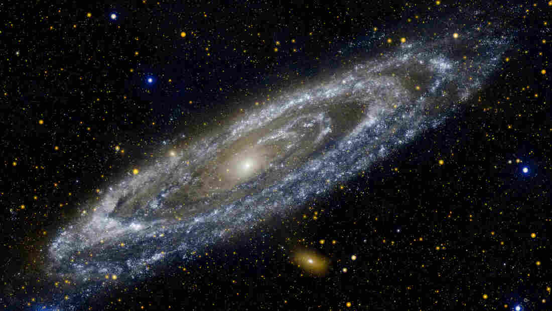 Astronomers thought they saw a big explosion in the nearby Andromeda galaxy.