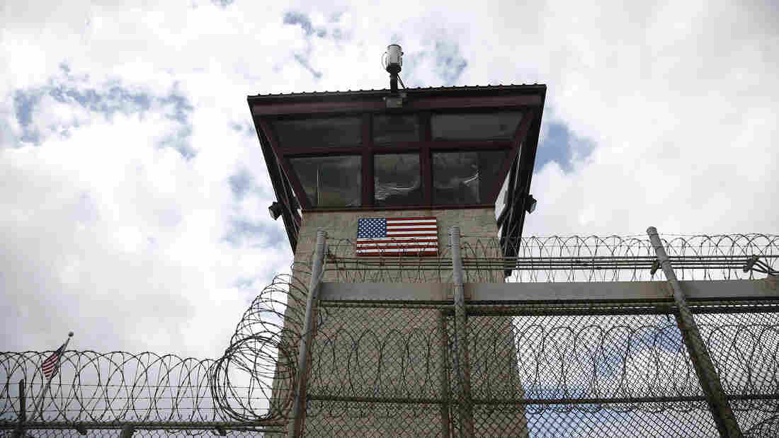A guard tower at the prison at the Guantanamo Bay Naval Base, Cuba, on Nov. 19, 2013. More than 150 prisoners remain detained there despite President Obama's pledge to close it.
