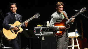 Frank Vignola and Vinny Raniolo perform on Mountain Stage.
