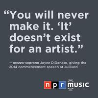 Joyce DiDonato's commencement address at The Juilliard School, May 23, 2014.