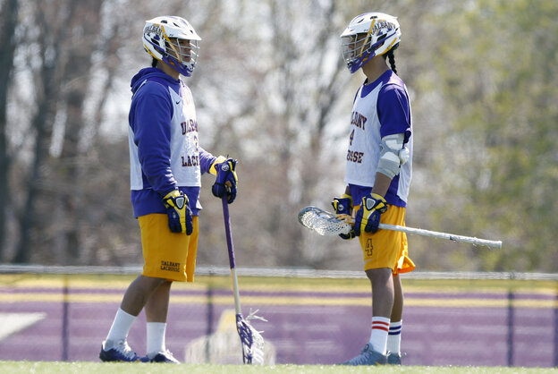 Miles Thompson (left) and his brother Lyle Thompson of New York are finalists for the Tewaaraton Award, college lacrosse's equivalent of the Heisman.