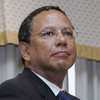 New York Times Executive Editor Dean Baquet, seen in 2006 while serving as editor of the Los Angeles Times, said in an interview with NPR that he doesn't believe his predecessor, Jill Abramson, was fired because of gender.