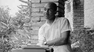 Ralph Ellison in 1957, four years after his novel Invisible Man won the National Book Award. Ellison died in 1994.