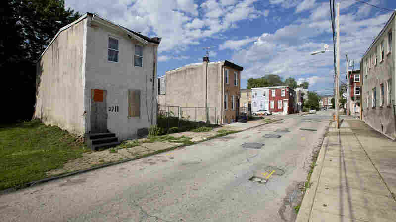 Rest in peace, 3711 Melon St. The house, on the left, was built in the 1870s.